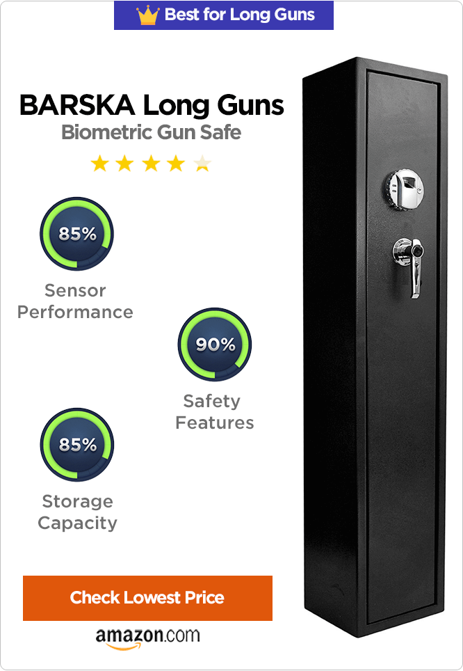 BARSKA Long Guns Biometric Safe