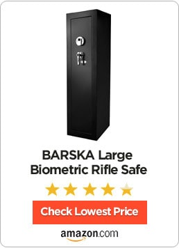 barska large biometric rifle safe review