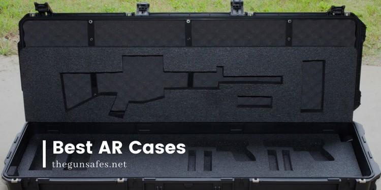 Empty, black, AR case