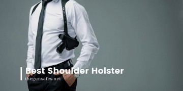 business man with a shoulder holster and gun