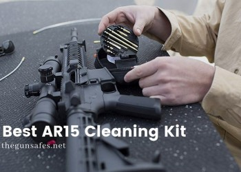man cleaning an AR15 with a compact kit