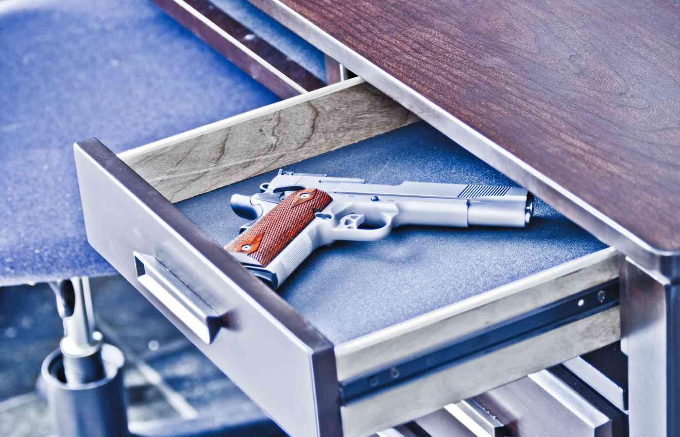 Hand Gun Safe Lock Box Pistol Handgun Security Cable Key Vault Travel Case Metal