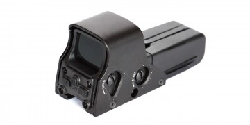 Red dot sight for gun isolated on white background